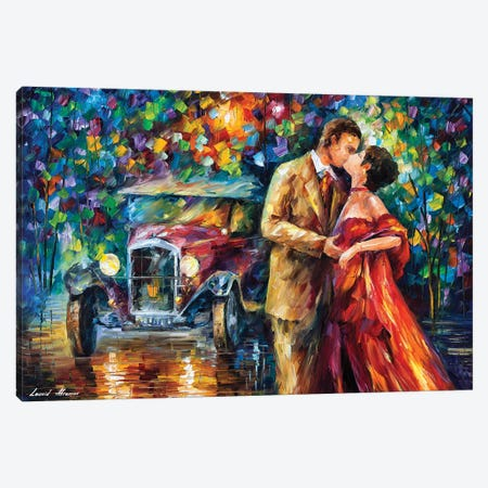 Old Kiss Canvas Print #LEA168} by Leonid Afremov Canvas Wall Art