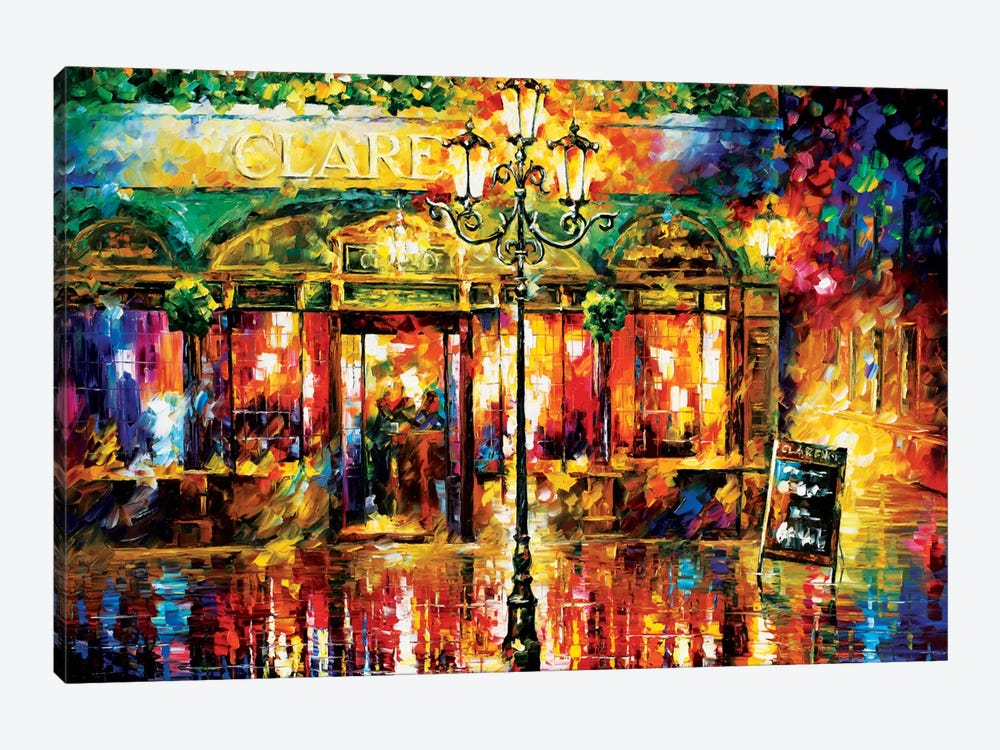 Clarens Misty Café by Leonid Afremov 1-piece Canvas Wall Art