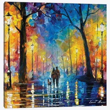 Rainy Park Canvas Print #LEA171} by Leonid Afremov Art Print