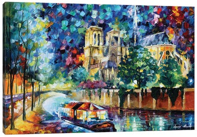 River Of Paris Canvas Art Print