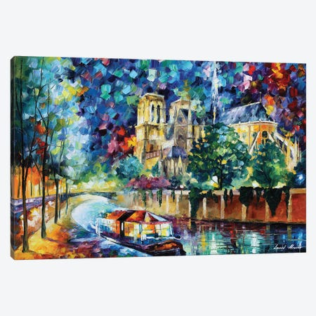 River Of Paris Canvas Print #LEA172} by Leonid Afremov Canvas Print