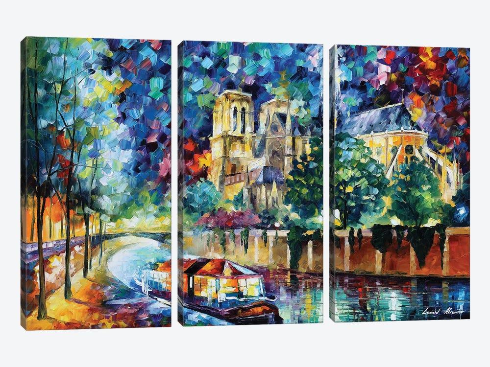 River Of Paris by Leonid Afremov 3-piece Canvas Artwork
