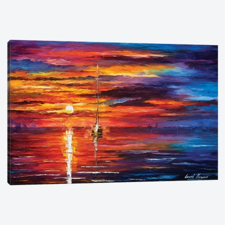 Sky Glows Canvas Print #LEA174} by Leonid Afremov Canvas Art