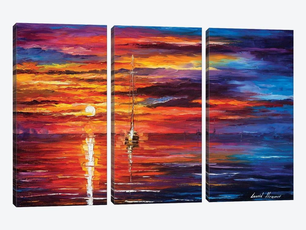 Sky Glows by Leonid Afremov 3-piece Canvas Wall Art