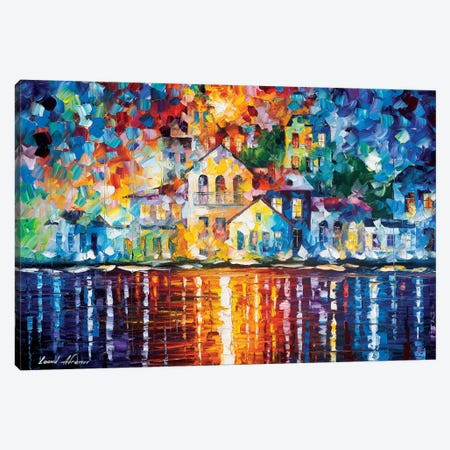 Sleepy Harbor Canvas Print #LEA175} by Leonid Afremov Canvas Wall Art