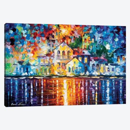 Sleepy Harbor Canvas Print #LEA175} by Leonid Afremov Canvas Wall Art