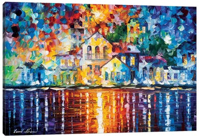 Sleepy Harbor Canvas Art Print