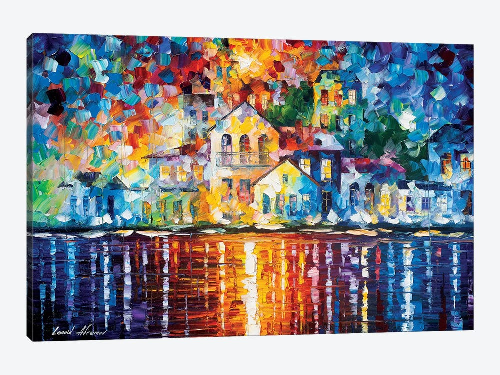 Sleepy Harbor by Leonid Afremov 1-piece Art Print