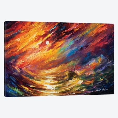 Storm That Never Ends Canvas Print #LEA176} by Leonid Afremov Canvas Art