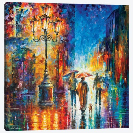 Strong Rain Canvas Print #LEA177} by Leonid Afremov Canvas Wall Art