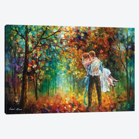 The Moment Of Love Canvas Print #LEA181} by Leonid Afremov Canvas Artwork