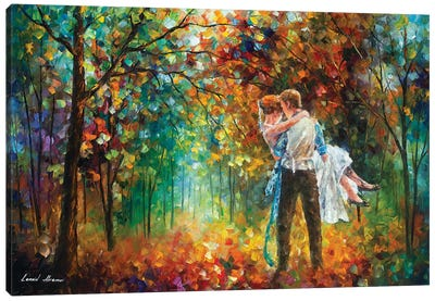 The Moment Of Love Canvas Art Print