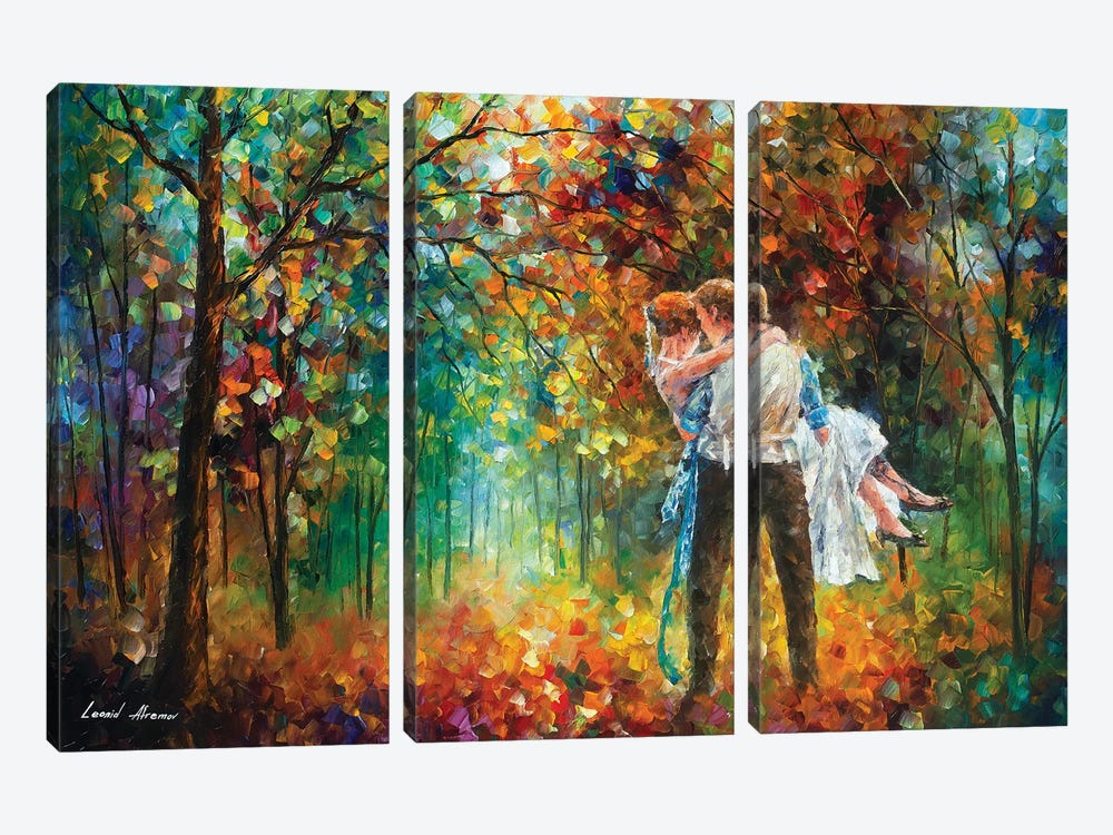 The Moment Of Love by Leonid Afremov 3-piece Canvas Artwork