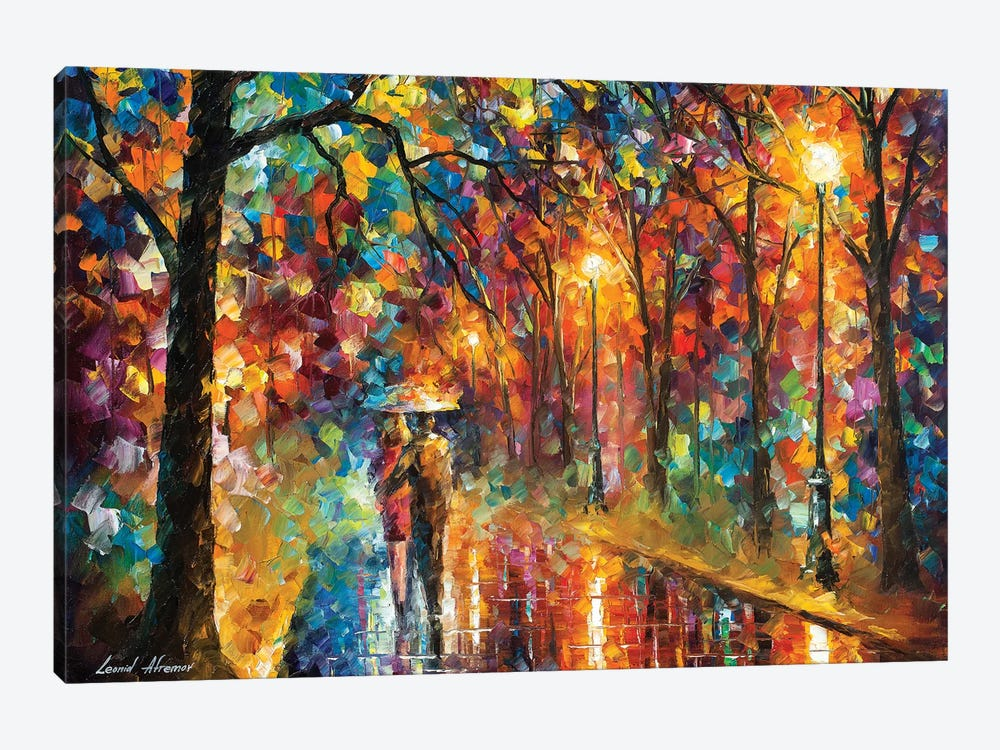 Walking In The Rain by Leonid Afremov 1-piece Canvas Artwork