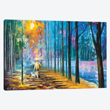 Walking My Dog Canvas Print #LEA184} by Leonid Afremov Canvas Print