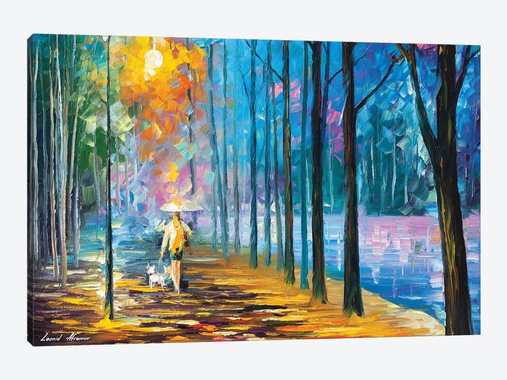 Walking My Dog by Leonid Afremov 1-piece Art Print