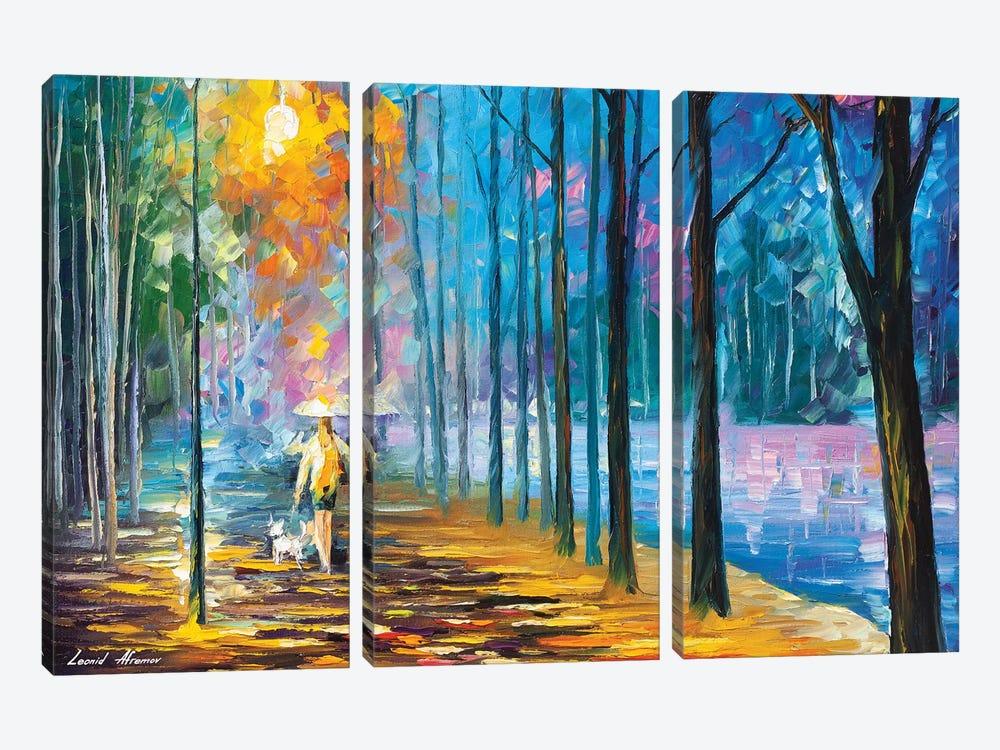 Walking My Dog by Leonid Afremov 3-piece Canvas Print