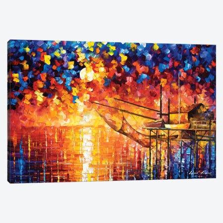 Wooden Dock Canvas Print #LEA185} by Leonid Afremov Art Print