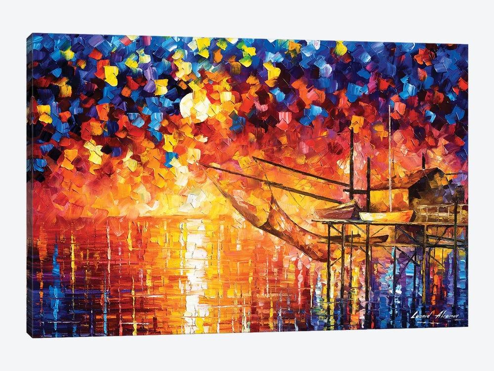 Wooden Dock by Leonid Afremov 1-piece Canvas Artwork