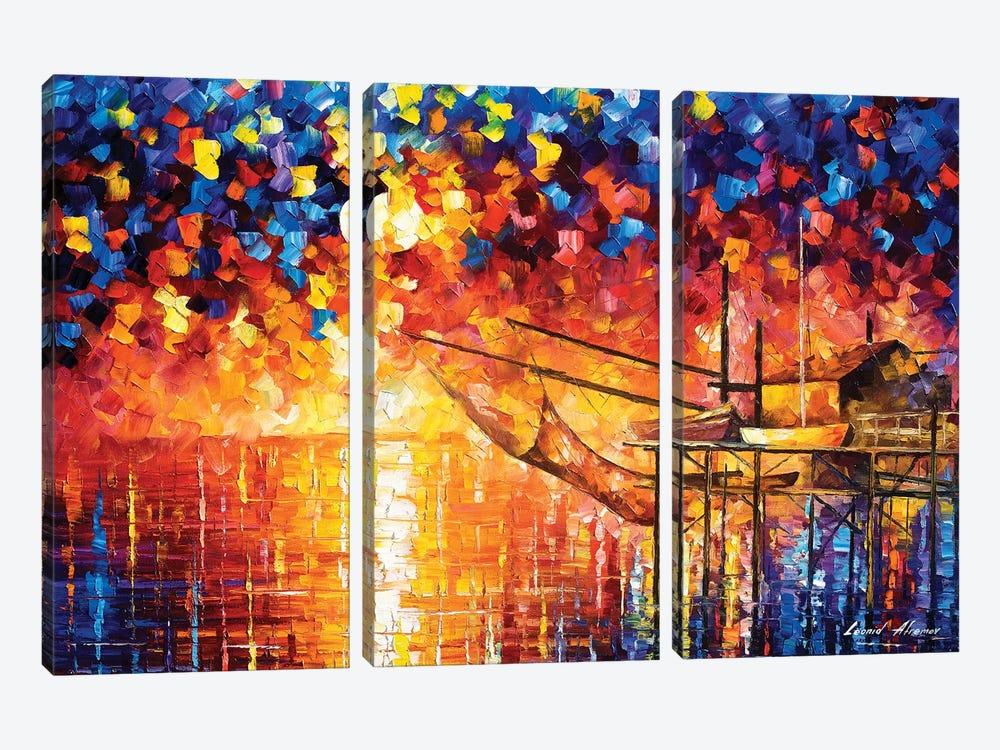 Wooden Dock by Leonid Afremov 3-piece Canvas Art