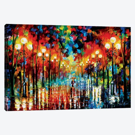 A Date With The Rain Canvas Print #LEA1} by Leonid Afremov Art Print