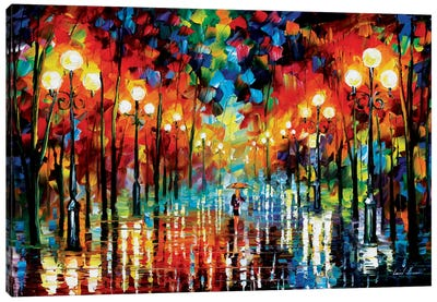A Date With The Rain by Leonid Afremov Art Print