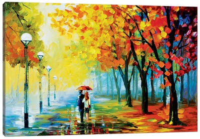 Fall Drizzle Canvas Print #LEA23