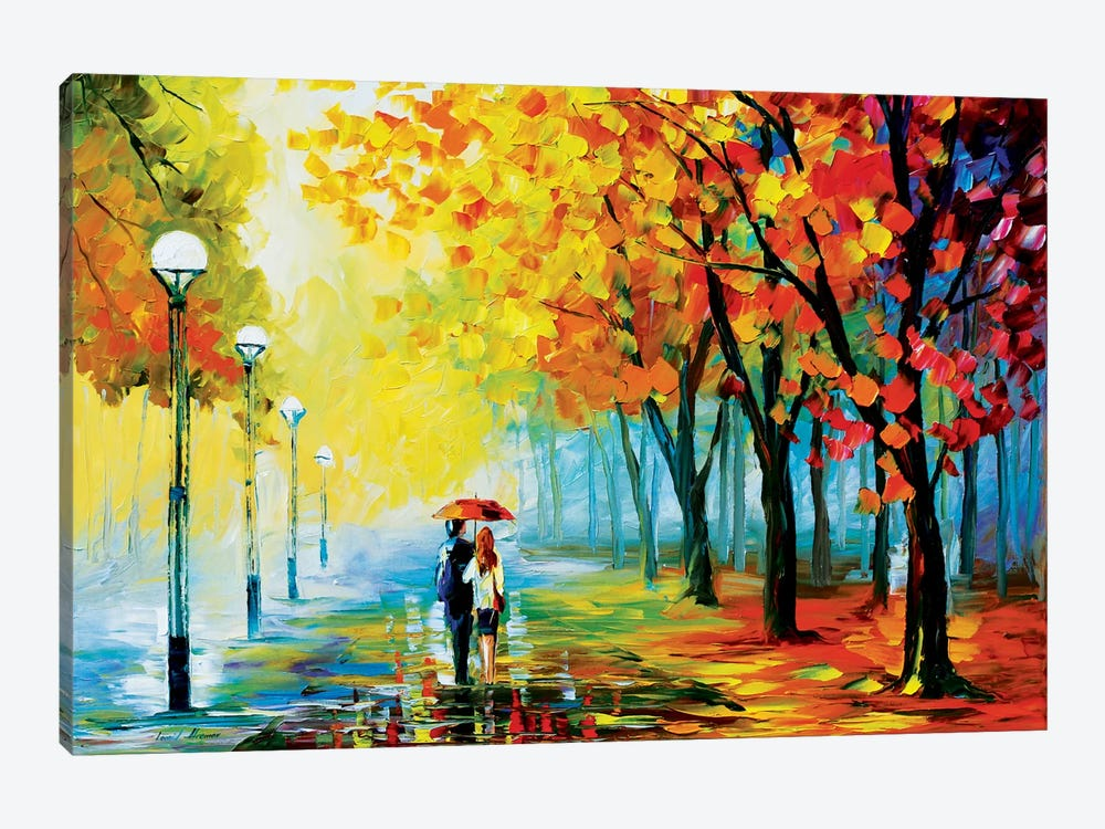 Fall Drizzle by Leonid Afremov 1-piece Canvas Wall Art