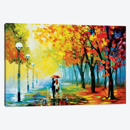 Fall Drizzle Canvas Print #LEA23} by Leonid Afremov Canvas Print