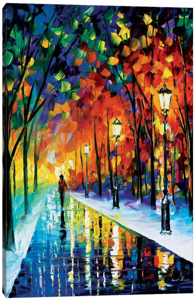 Frozen Path Canvas Art Print