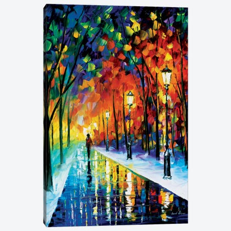 Frozen Path Canvas Print #LEA25} by Leonid Afremov Canvas Wall Art