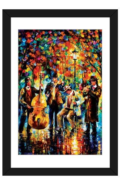 Glowing Music Framed Art Print