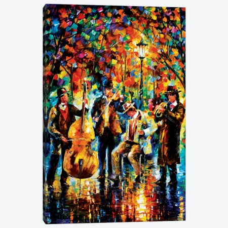 Glowing Music Canvas Print #LEA26} by Leonid Afremov Canvas Wall Art