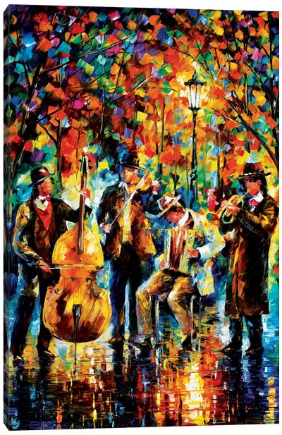 Glowing Music Canvas Art Print