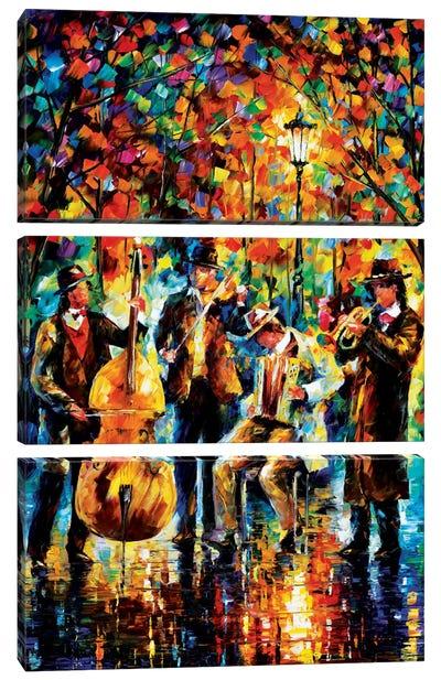 Glowing Music Canvas Art Print
