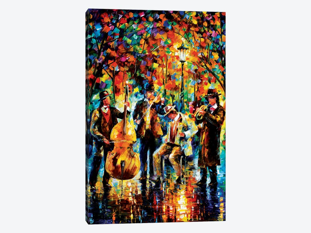 Glowing Music 1-piece Canvas Print