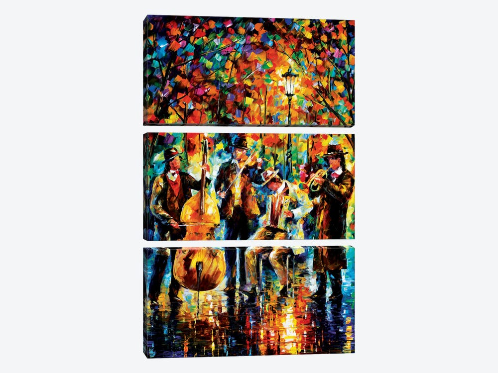 Glowing Music by Leonid Afremov 3-piece Canvas Art Print