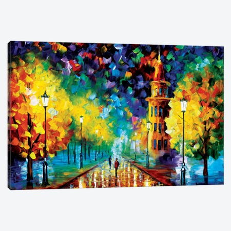 Gold Winter Canvas Print #LEA27} by Leonid Afremov Canvas Art