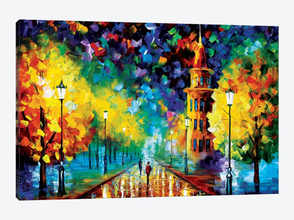 Gold Winter by Leonid Afremov 1-piece Canvas Artwork