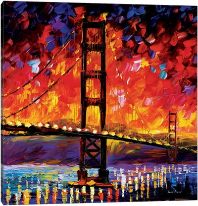 Golden Gate Bridge Canvas Print #LEA28