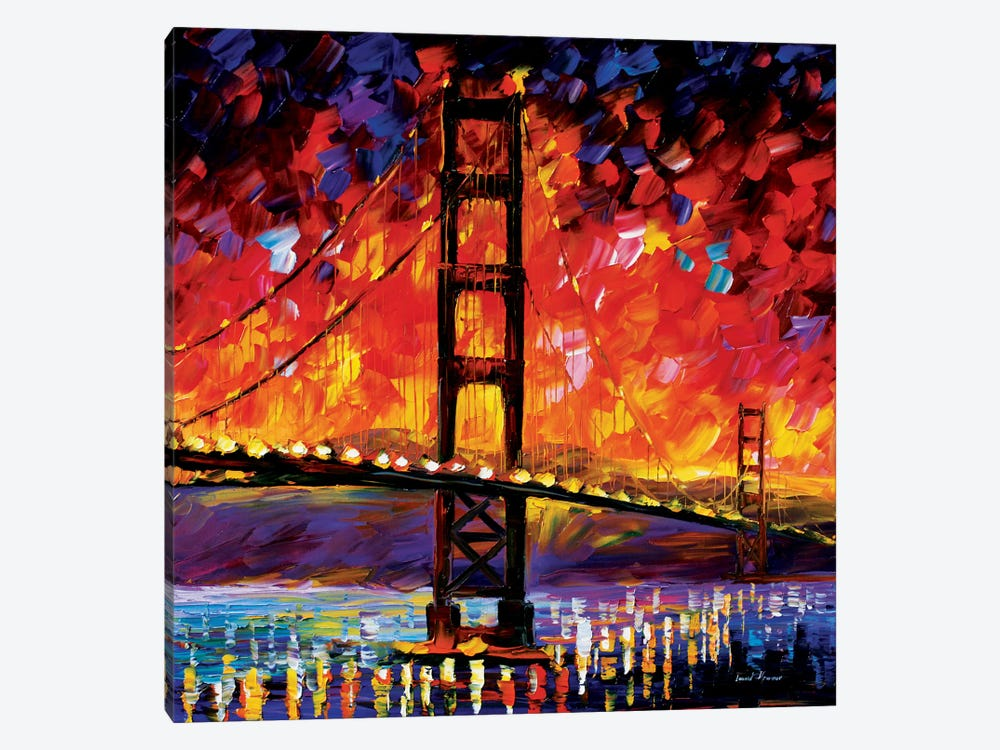 Golden Gate Bridge by Leonid Afremov 1-piece Art Print