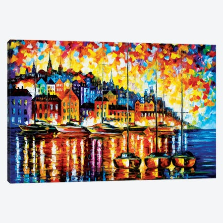 Harbor Of Corsica Canvas Print #LEA29} by Leonid Afremov Canvas Art Print