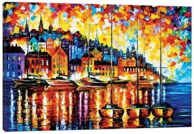 Harbor Of Corsica Canvas Art Print