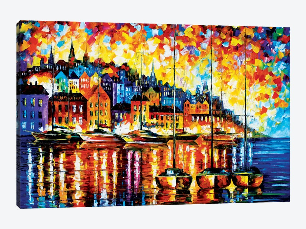 Harbor Of Corsica by Leonid Afremov 1-piece Canvas Artwork