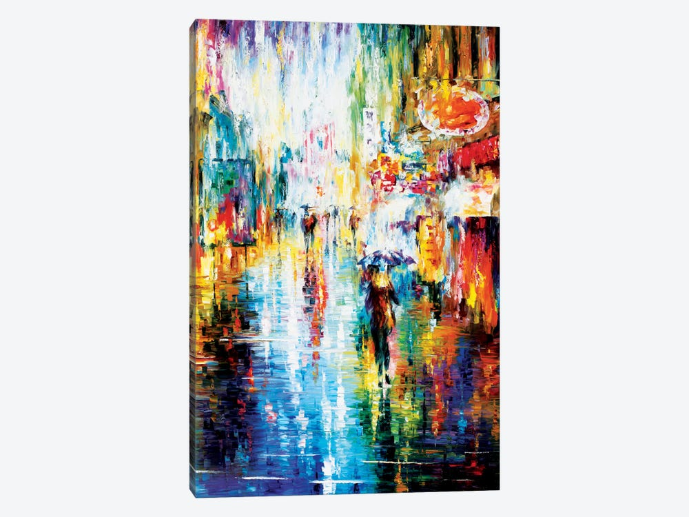 Heavy Downpour by Leonid Afremov 1-piece Canvas Wall Art