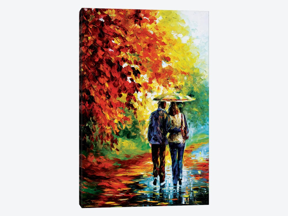 Intriguing Autumn. by Leonid Afremov 1-piece Canvas Print