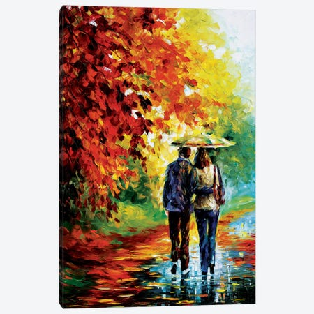 Intriguing Autumn Canvas Print #LEA31} by Leonid Afremov Canvas Wall Art