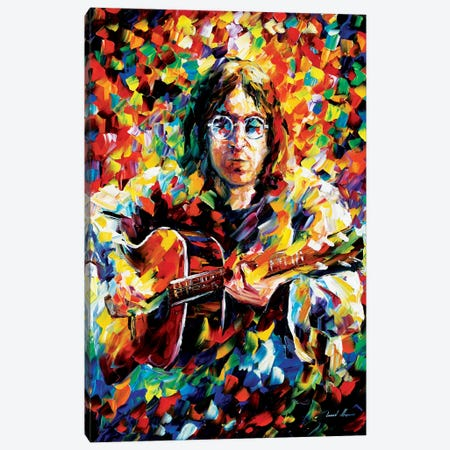 John Lennon Canvas Print #LEA33} by Leonid Afremov Canvas Artwork