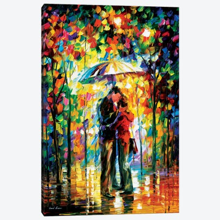 Kiss In The Park Canvas Print #LEA35} by Leonid Afremov Art Print