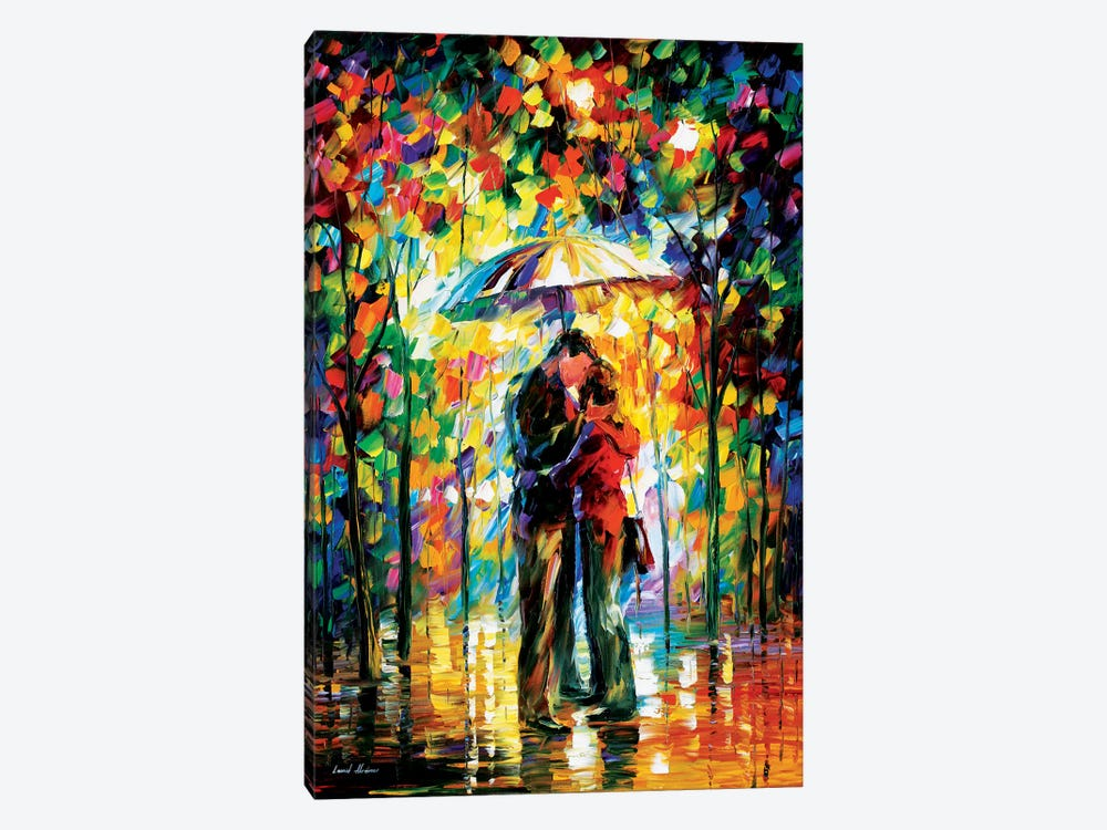 Kiss In The Park by Leonid Afremov 1-piece Canvas Print